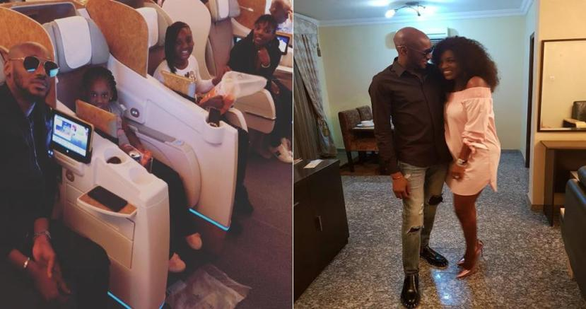 2face Idibia, Annie And Their Kids Jet Out To Dubai For A Birthday Vacation