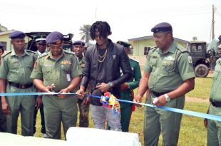 Jamaican musician donates water borehole to army
