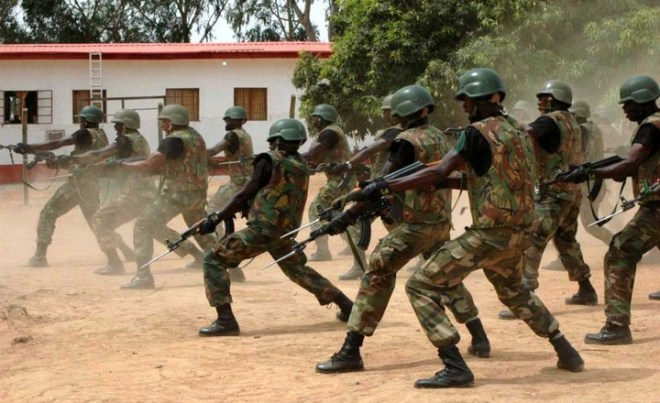 Nigeria Army Force Soldiers