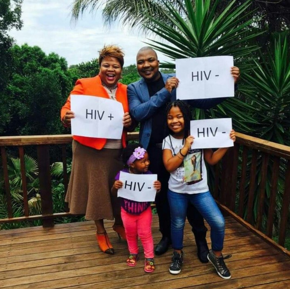 See how this family of 4 showed off their HIV status