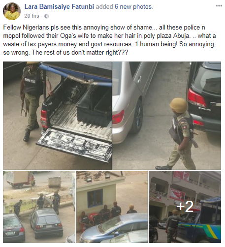 Why Woman Berates Police Officers Who Allegedly Escort Their Boss' Wife To A Hair Salon (Details)