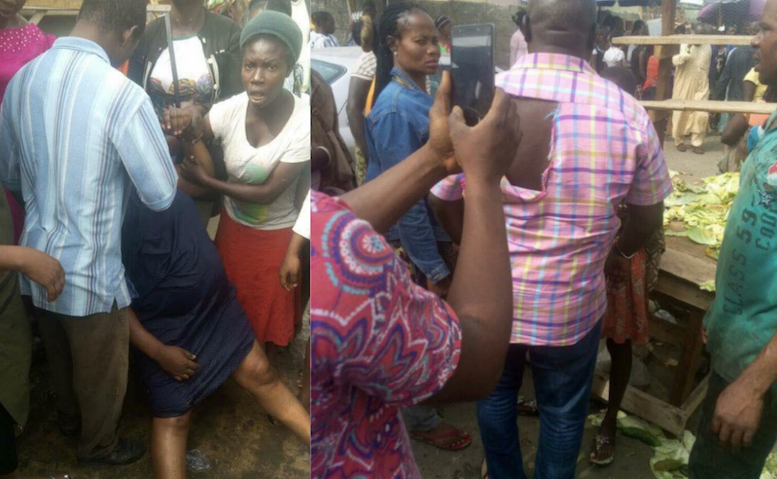 drama-as-woman-pretends-to-faint-after-attacking-a-commissioner-in-delta-state-theinfo-ng-777x479