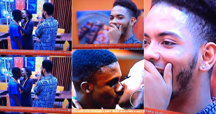 #BBNaija :- Anto refuses to kiss K. Brule… But she went on to kiss Lolu
