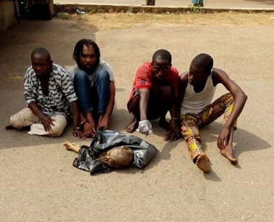 """I use human flesh to make money ritual for people"" - Islamic cleric, pastor, two others arrested in Ibadan over possession of human parts"