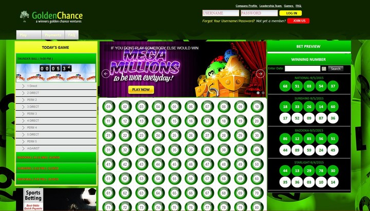 Play Golden Chance Lotto Online At The Comfort Of Your Room
