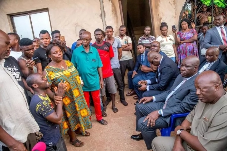 Obaseki visits family of driver killed during a fight with a police officer