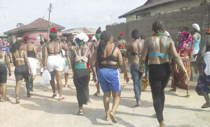 Biafra Women Protest Topless