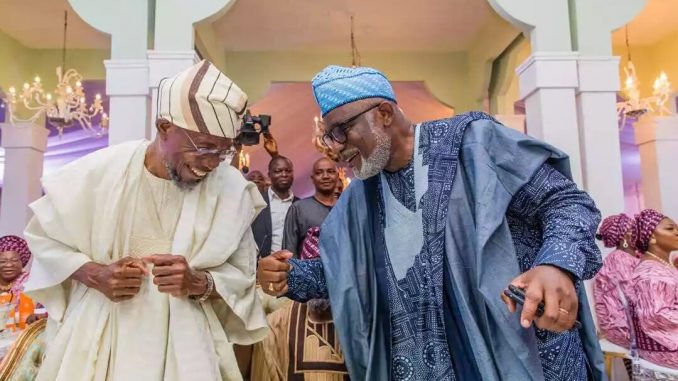 Aregbesola And Akeredolu Dancing