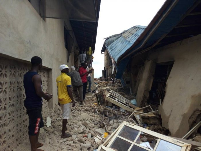 Ebenco Pharmacy Ile-Ife One Feared Dead As Explosion Destroys Storey Building In Ife (Photos)