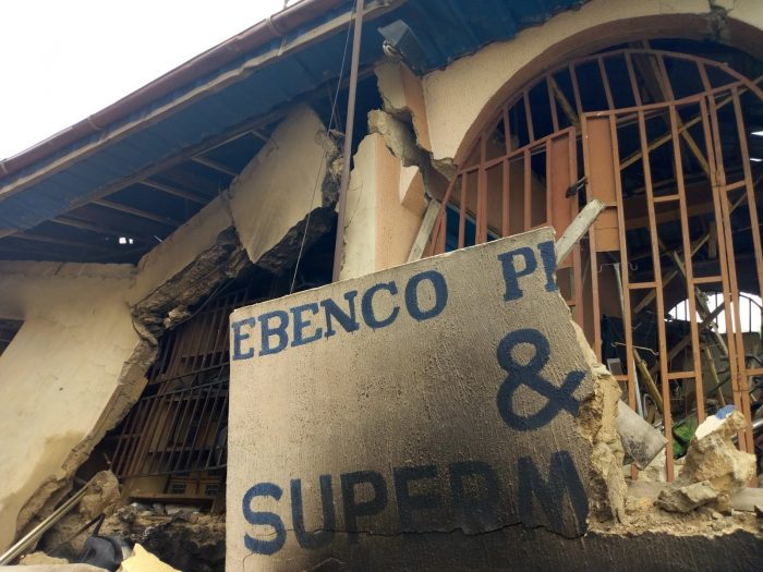 Ebenco Pharmacy Ile-Ife Destroy After Explosion