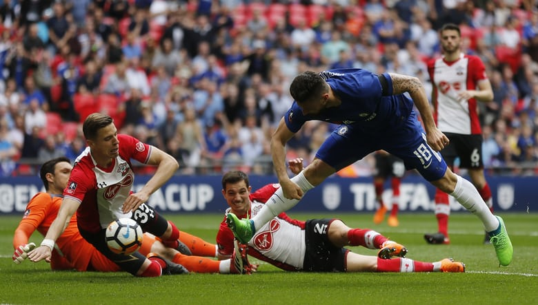 Image result for Chelsea Vs Southampton :FA Cup : (2 - 0)