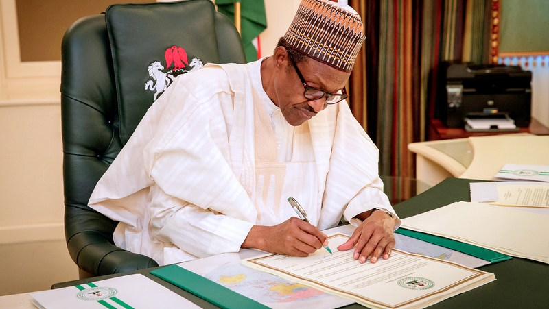 Buhari Signs Document Buhari Assents Bill Buhari Approves List