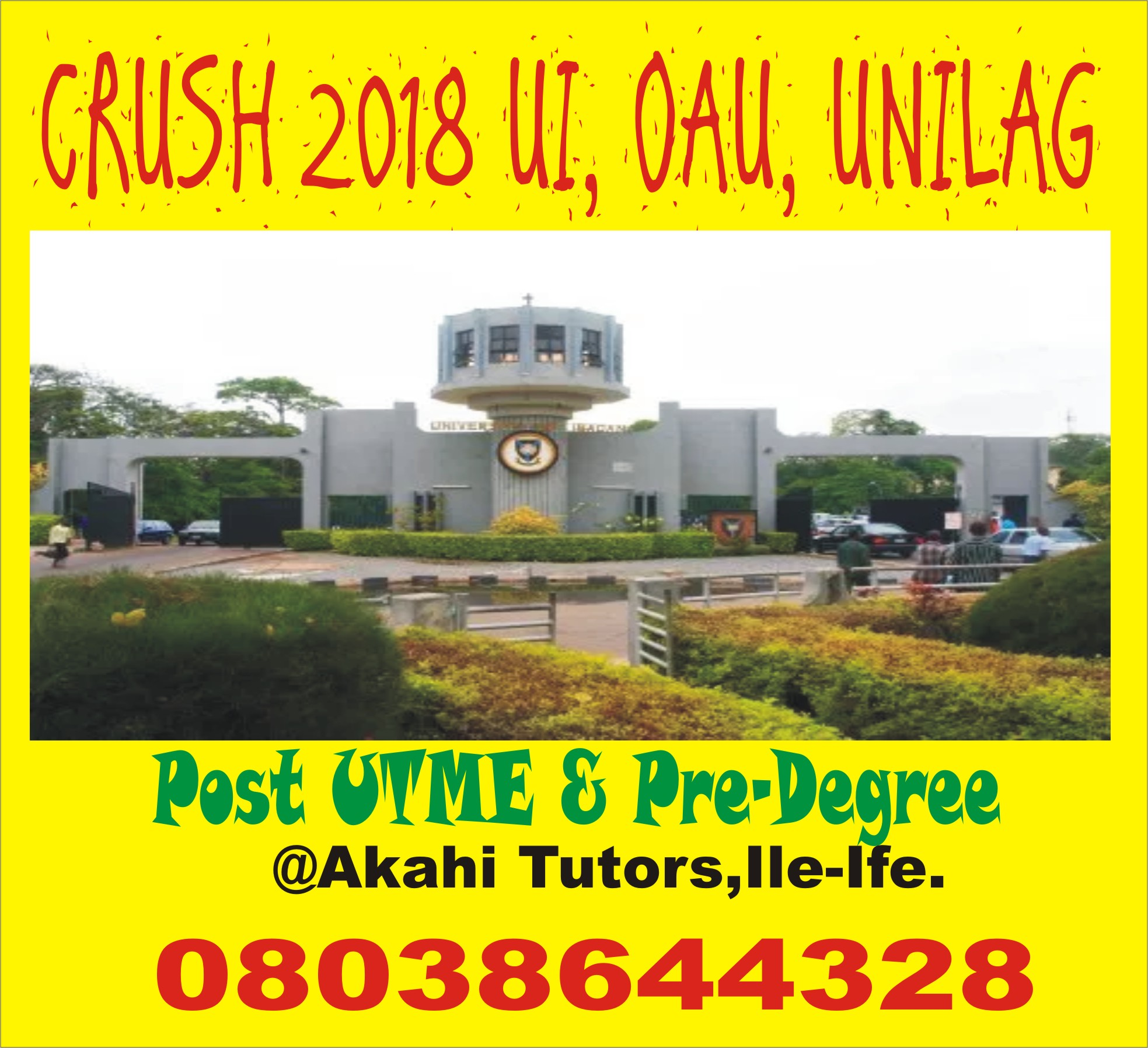 Blast Post UTME At Akahi Tutors, Ile-Ife