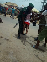 Police shoot pure water seller in Aba while trying to extort money from her(Photos)