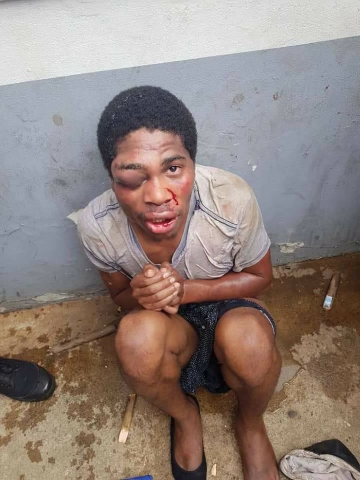 Mob Beat Man For Robbing Woman Of Her ATM Card (Photos)