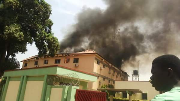 Flash kaduna State Electoral Commission Office Is Currently On Fire pics