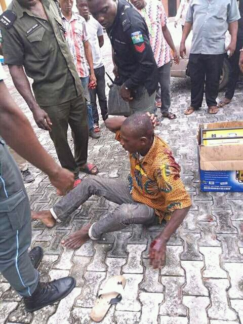 Generator Thief Caught In Port-harcourt See What Was Done To Him Next (Photos)