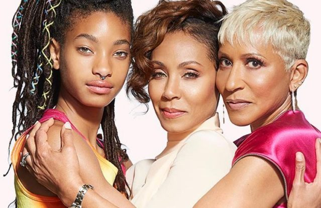 Then and Now! Jada Pinkett,her mum and Willow Smith