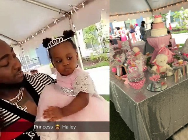 (PHOTOS) Davido throws 1st birthday party for his second daughter in USA