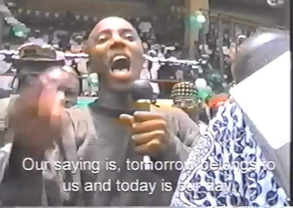 Abiola: Sahara Reporters Owner, Sowore Protesting Annulment Of June 12, 1993 Election (Throwback Photos)