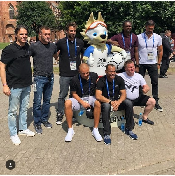 Kanu Nwankwo Joins FIFA Legends In Russia, See His Wife's Reaction (Photos)