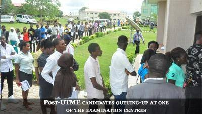 Post UTME Students On Campus