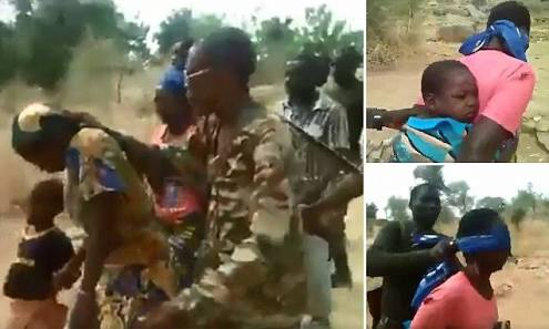 Viral Graphic Video Of 'Cameroonian Soldiers' Executing Blindfolded Women, Kids (Photos)