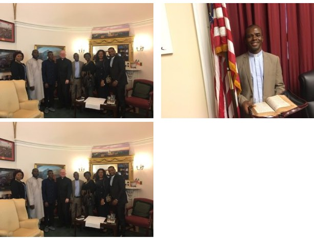 Father Mbaka All Smiles As He's Hounoured By Lawmakers In America (Photos)