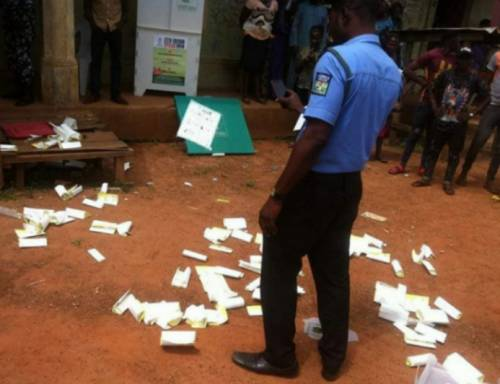 Owoeye and some thugs tried to snatch a ballot box at the polling unit