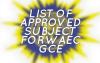 List of Approved Subject in WAEC GCE for Commercial, Science and Art Student
