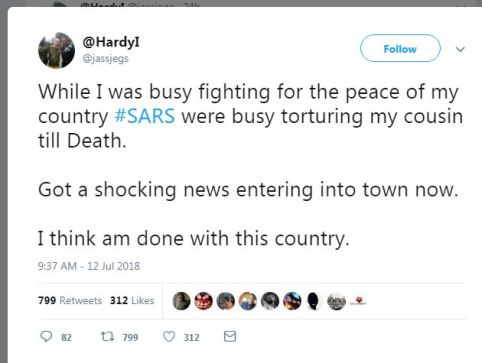 Soldier SARS Tortured My Cousin To Death, While I Was Busy Fighting For Peace2