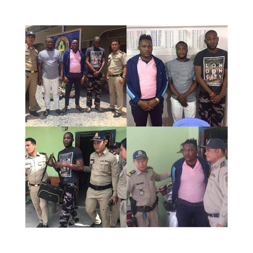 3 Nigerians Arrested For Living Illegally In Cambodia