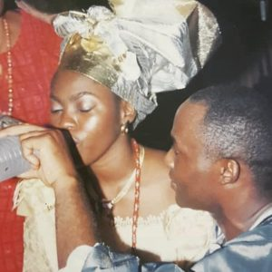 Throwback Photo Of RMD Feeding His Wife Palm Wine At Their Traditional Wedding