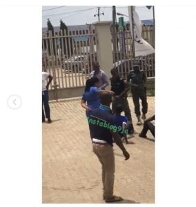 Fidelity Bank's Manager Orders The Beating Of Customers (Photos)