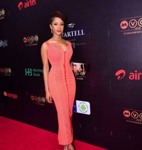 Adesua Etomi Steps Out In Style For 2018 AMVCA Nominees Cocktail Party