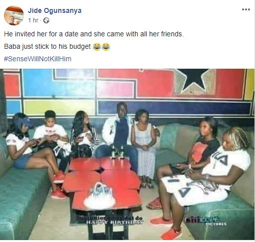 Man Invited Lady For A Date, She Came With Her 5 Friends. See What The Man Did (Photo)