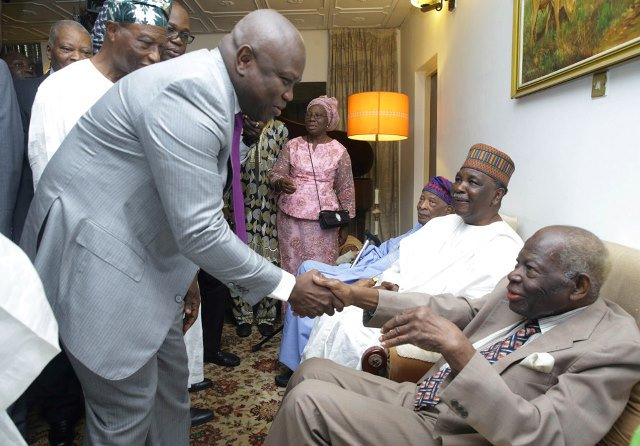 Ambode, Amosun, Gowon, Akiolu, others felicitate with Chief Akintola Williams at 99