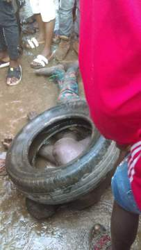 baby-kidnapper-caught-in-lagos-almost-burnt-to-death-with-tyre-by-angry-mob-1