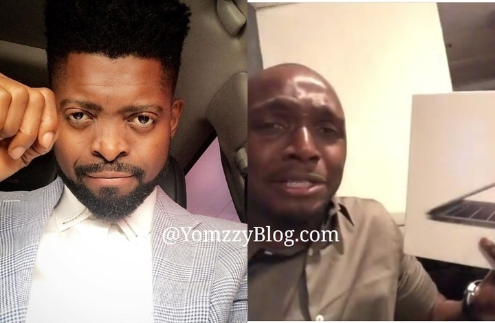 Basketmouth Gifts IK Osakioduwa A New Laptop After His Car Was Broken Into
