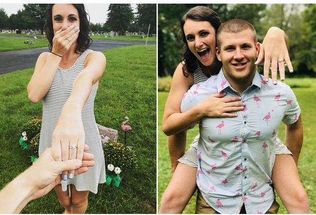Romantic? Man Proposes To Girlfriend At Her Father's Grave. Photos