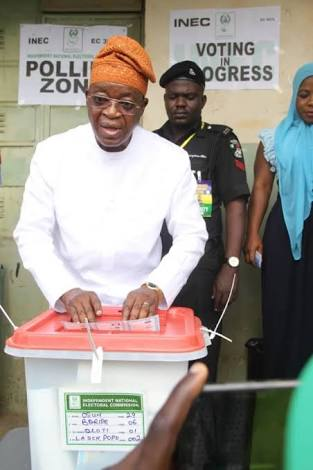 Osun election: What APC candidate Oyetola said after voting