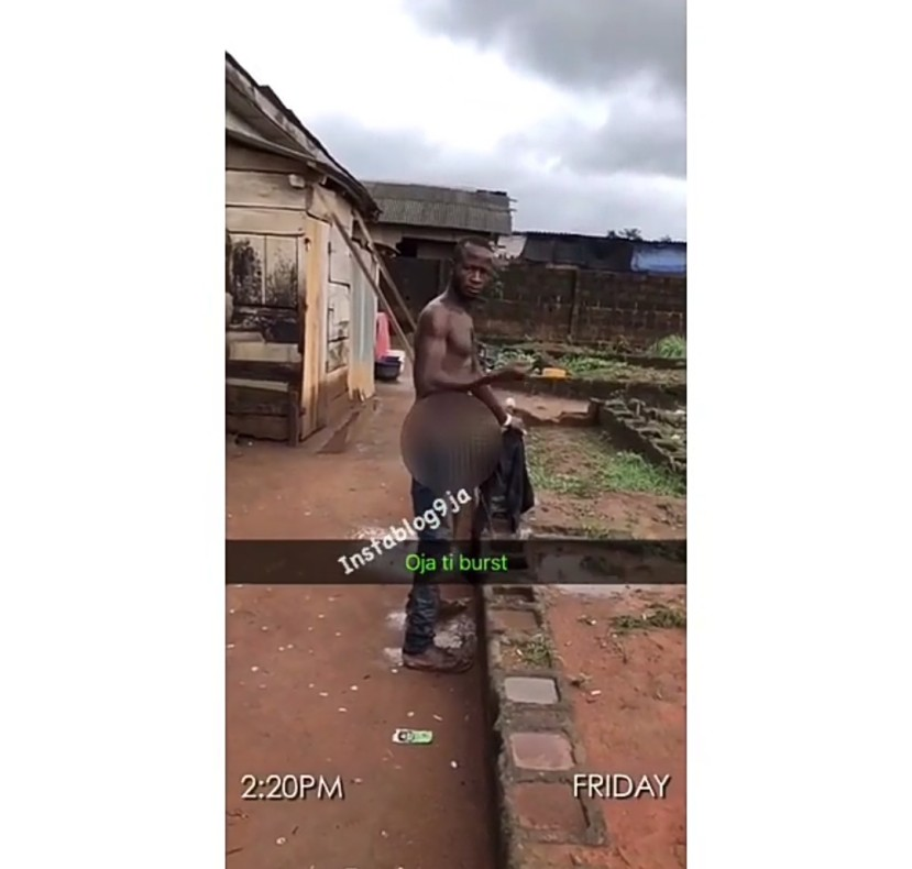 Man Bathing With His Urine After Overdosing On Drugs (Photos)
