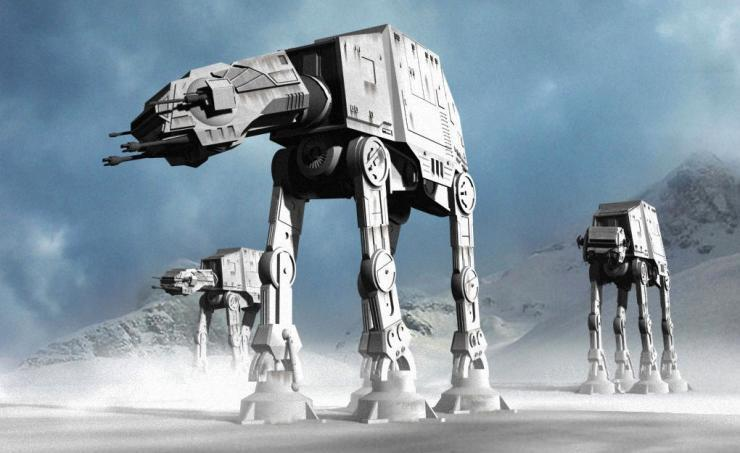 Rob bot Robbot Engine  Star Wars fans wowed by Imperial AT-AT creation at annual scarecrow competition