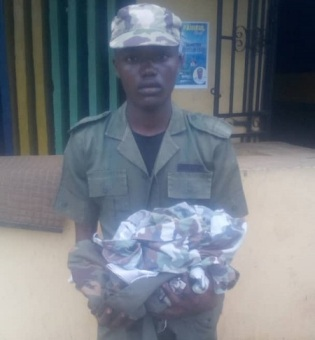 oyeyemi Armed Robber Who Robs Victims In Police Uniform Captured In Ogun State (Photo)