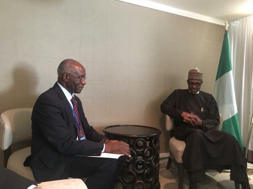 President Buhari Meets First Black Man Elected Senator In Italy (Photo)