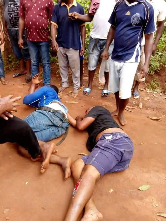 Armed Robbers Stripped Naked After Being Caught Stealing From Shrine (Photos)