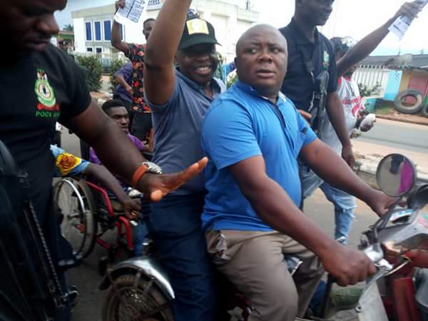 Ohakim Ex-Imo Governor Ohakim Pictured On Bike As He Campaigns For 2019