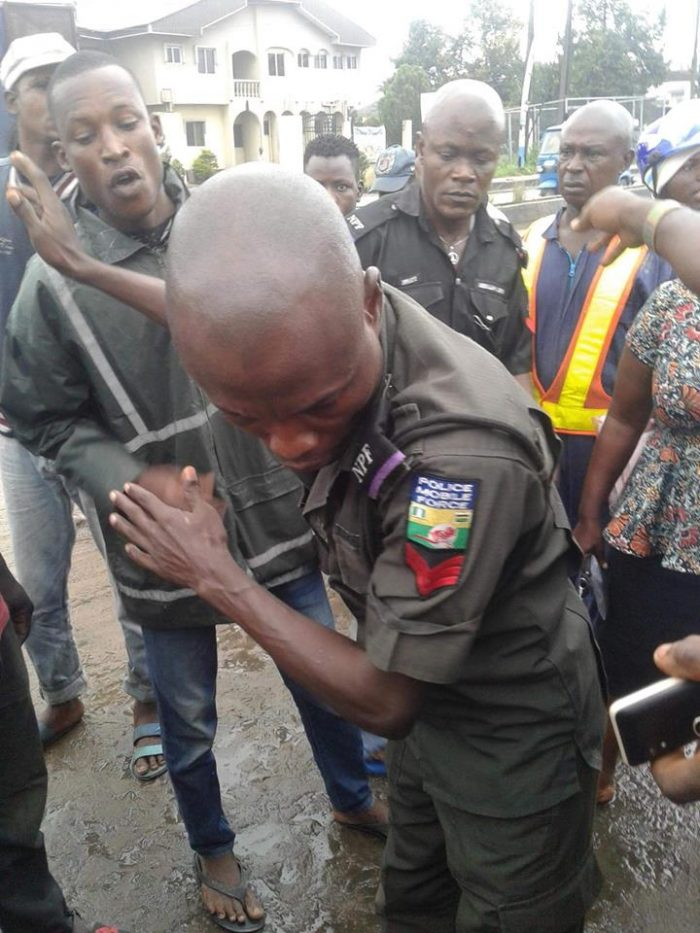 Overzealous Police Officer Almost Beaten By Angry Residents In Delta (Photos)