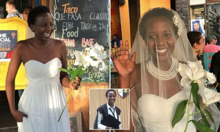 Mysterious: Uganda Lady Tired Of Being Asked When She Is Getting Married, Marries Herself (Photos)