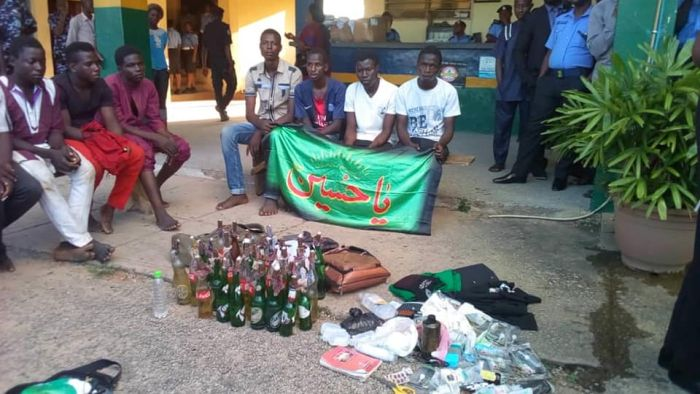 Shiite Muslims Arrested With Petrol Bombs, Hard Drugs (Photos)